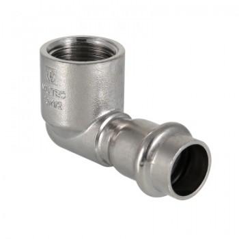 Фитинг из нержавеющей стали – пресс-угольник с внутренней резьбой VALTEC VTi.952.I