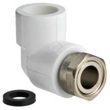 Полипропиленовый фитинг - угольник  с накидной гайкой VALTEC VTp.758.0