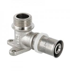 Пресс-фитинг – угольник с креплением с наружной резьбой VALTEC VTm.255.N