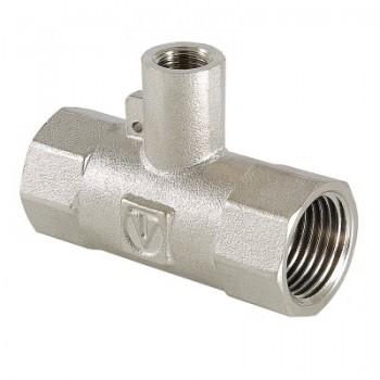 Фитинг резьбовой – тройник для подключения датчика температуры VALTEC VTr.250.N