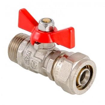 Кран шаровой с обжимным соединением и наружной резьбой VALTEC VT.341.N