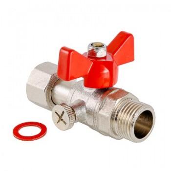 Кран шаровой для подключения манометра с наружной резьбой VALTEC VT.806.N