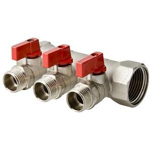 Коллектор для воды с отсекающими кранами VALTEC Vtc.580.N