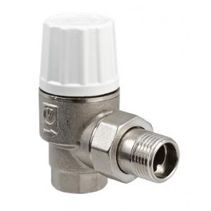 Угловой термостатический кран для подключения радиатора с повышенной пропускной способностью VALTEC VT.033.N.